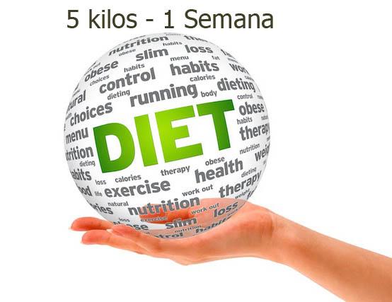 plan de dieta para bajar 5 kilos