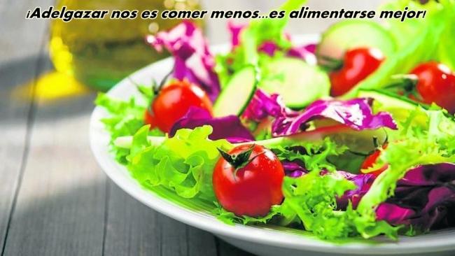 una dieta para adelgazar saludable