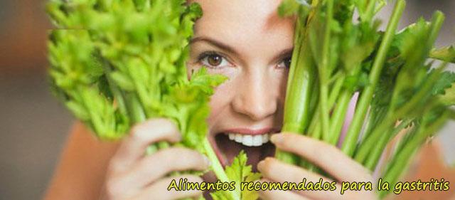 alimentos recomendado para la gastritis