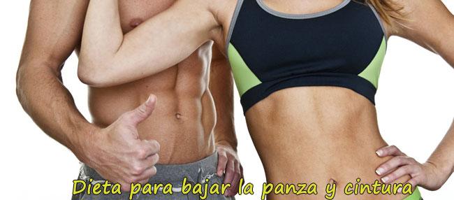 Dieta para bajar de peso barriga y cintura