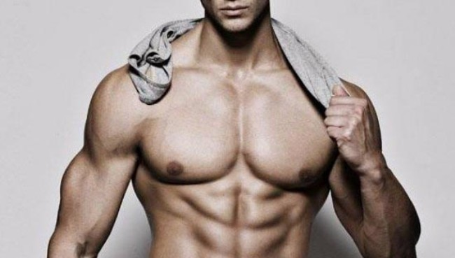 como secar o abdomen masculino